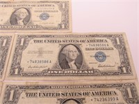 US $1 Silver Certificates Star Notes
