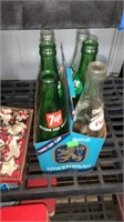 3 Coke Trays, Cookie Cutters, And Bottles