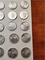 1881 uncirculated silver dollars total of 20.