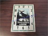 SPORTSMEN'S LODGE CLOCK