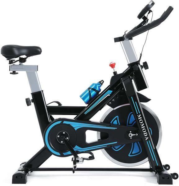 Momoda Stationary exercise bike with LCD display