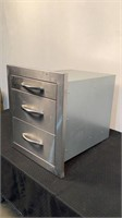 Cal Flame Stainless Steel 3 Drawer Cabinet
