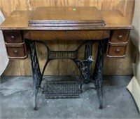 Singer Sewing Cabinet W/ Sewing Machine