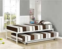 Metal Daybed Frame with Pop-Up Trundle Bed
