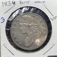 COIN AUCTION MORGANS/ BUST HALVES/ GRADED COINS/ SHIP ONLY