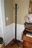 "ANTIQUE COAT RACK, 69"" TALL"