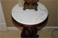 MARBLE TOP ROUND OCCASIONAL TABLE, 15x28""