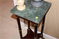MARBLE TOP TABLE, 12x12x30""