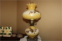 "PAIR OF VINTAGE GLOBE LAMPS, 20"" TALL"