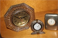 FIVE DESK CLOCKS