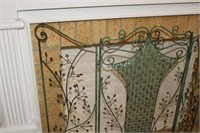 LARGE METAL FIREPLACE SCREEN