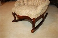 VICTORIAN STYLE ROSE CARVED ROCKER