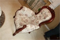 VICTORIAN STYLE CUSHIONED ARM CHAIR