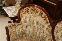 VICTORIAN STYLE ROSE CARVED SOFA