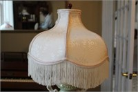 VINTAGE GEORGE AND MARTHA STYLE LAMP, FLORAL LAMP