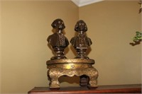PEDESTAL STAND AND BUST FIGURES