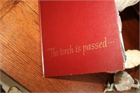 QUILL PEN, THE TORCH IS PASSED BOOK, BIBLE