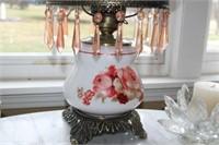 FLORAL GLOBE PRISM LAMP