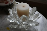 GLASS SLIPPERS, CANDLE HOLDER