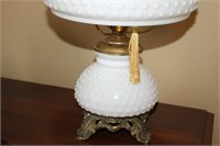 """PAIR OF HOBNAIL LAMPS, 19"""" TALL"""