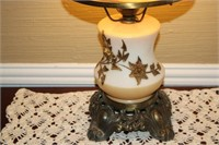 """VINTAGE GLOBE LAMP, 22"""" TALL"""