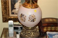 """VINTAGE GLOBE LAMP, 25"""" TALL"""