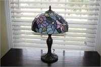 """TIFFANY STYLE LAMP, 17"""" TALL"""