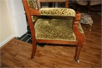 ANTIQUE EAST LAKE CUSHIONED CHAIR