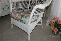 WICKER CHAIR AND CUSHION