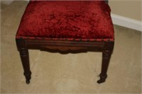 ANTIQUE EAST LAKE STYLE CUSHIONED CHAIR