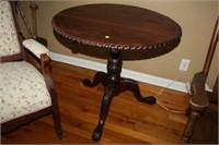 ORNATE OCCASIONAL TABLE, TOP IS LOOSE, 28x21x19""