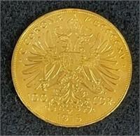 1915 100 Corona Austrian Gold Coin