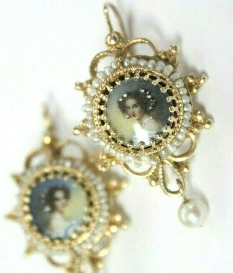 Victorian 14k Gold Portrait Seed Pearl Earrings Other Items For Sale 1 Listings Tractorhouse Com Page 1 Of 1