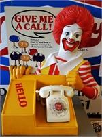 """AuctionWon- RARE 1970s McDonald's """"Talk to Ronald"""" Display"""