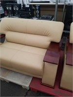 Leather love seat. 58 inches long