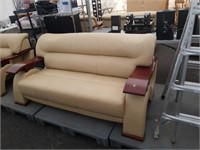Leather sofa. 75 inches long