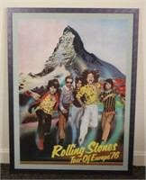 1976 Rolling Stones Europe Tour Poster