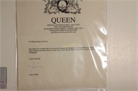 Hand Signed Queen Album and Concert Poster