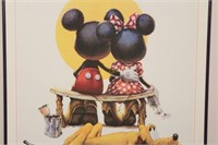 Mickey and Minnie Poster with Pluto