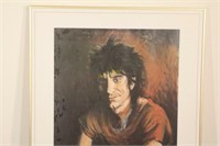 1989 Autographed Ronnie Wood Art Exhibition Poster