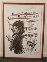 Original Signed Ronnie Wood Poster
