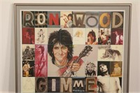 1979 Vintage Ronnie Wood Promotion Poster