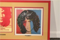 Billy Squier Signed Album and Dressing Room Sign