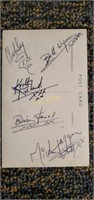 Signed Rolling Stones Postcard
