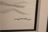 Framed Wyland Whale Tail