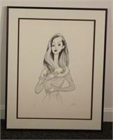 Al Hirschfeld Celine Dion Lithograph