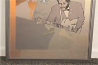 Chuck Berry Lithograph by Ronnie Wood