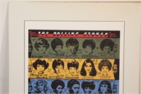 Rolling Stones Signed Some Girls Album Art Poster