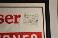 Rolling Stones 1990 Wembly Stadium Show Poster