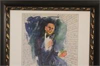 Framed Frank Sinatra at Hofstra University 1998